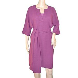 Talbots Black Label Amethyst Purple Tunic Dress 8P